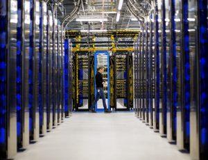 Un data center de Microsoft