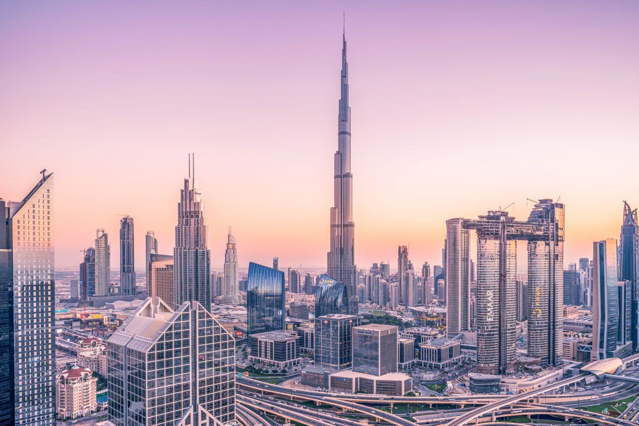 Les gratte-ciel de Dubaï.