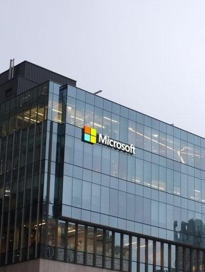 Photographie des bureaux de Microsoft.