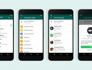 Capture d'écran de la nouvelle fonctionnalité d'annuaire de WhatsApp