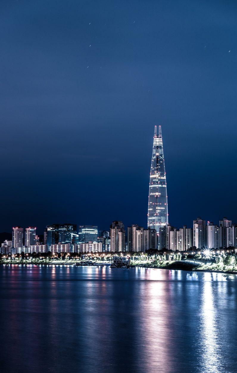 Des gratte-ciel à Séoul.