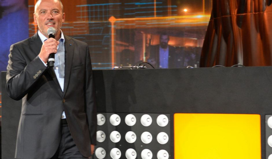 Stéphane Richard, PDG d'Orange, parlant lors d'une présentation
