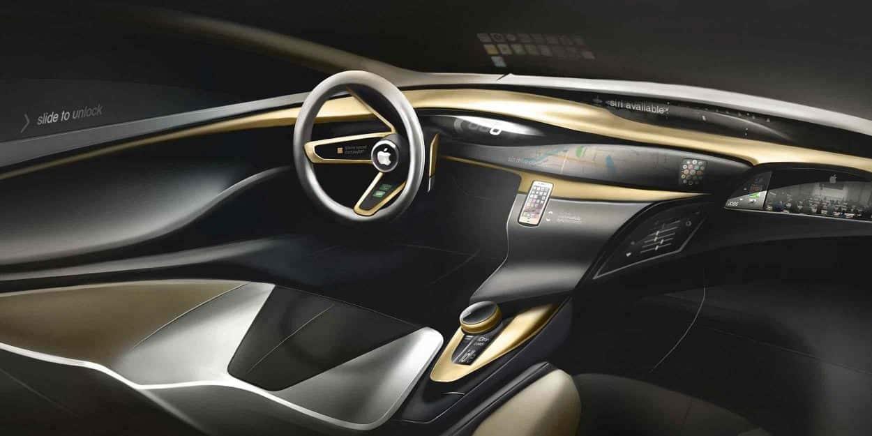 Image de synthèse d'un concept d'une Apple Car