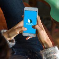 Smarphone possédant l'application Blablacar.