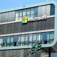 Façade d'un bâtiment de Microsoft