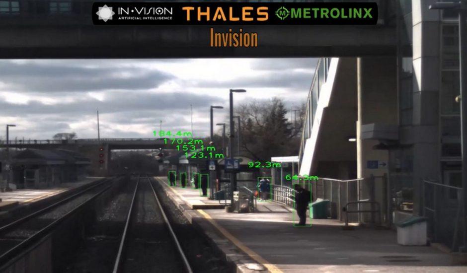 Illustration du système ferroviaire autonome mis au point part Thalès avec l'aide d'Invision AI
