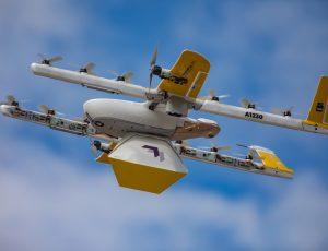 Drone utilisé par Wing pour son service de livraison.