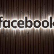 Logo Facebook lumineux