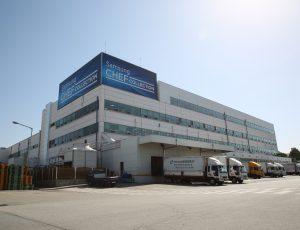 Façade d'un bâtiment de la Samsung Green City à Gwangju