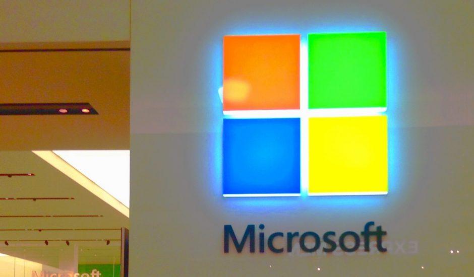 Logo de Microsoft illuminé