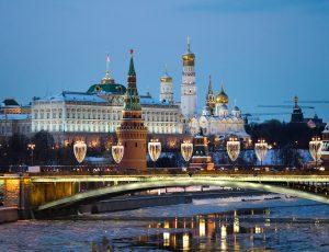 Une photographie de Moscou.
