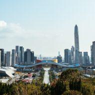 Photographie présentant les grattes ciels de Shenzhen en Chine