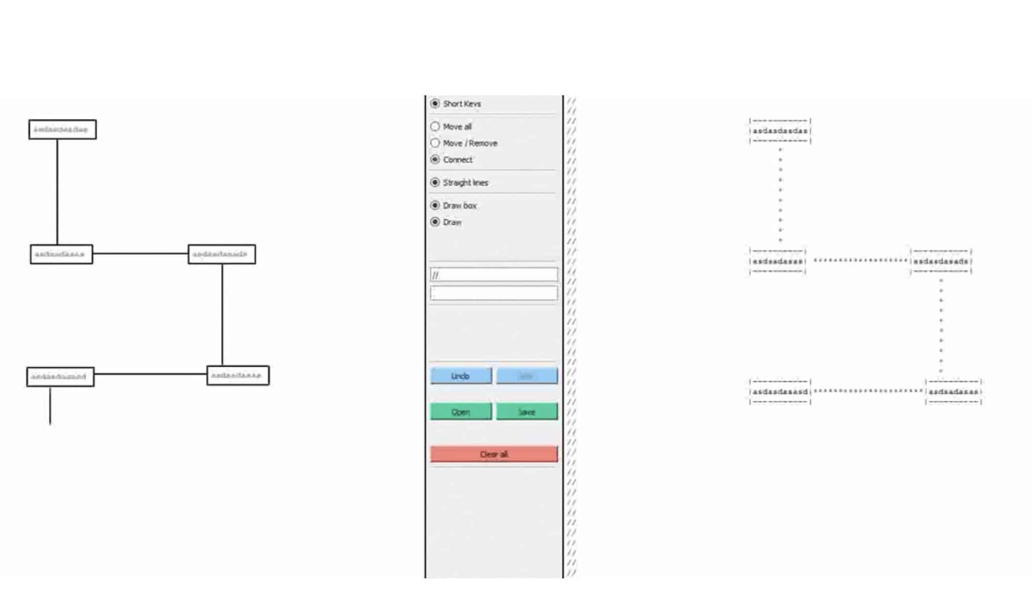 Cet outil permet de dessiner des graphiques et les convertir en fichier texte
