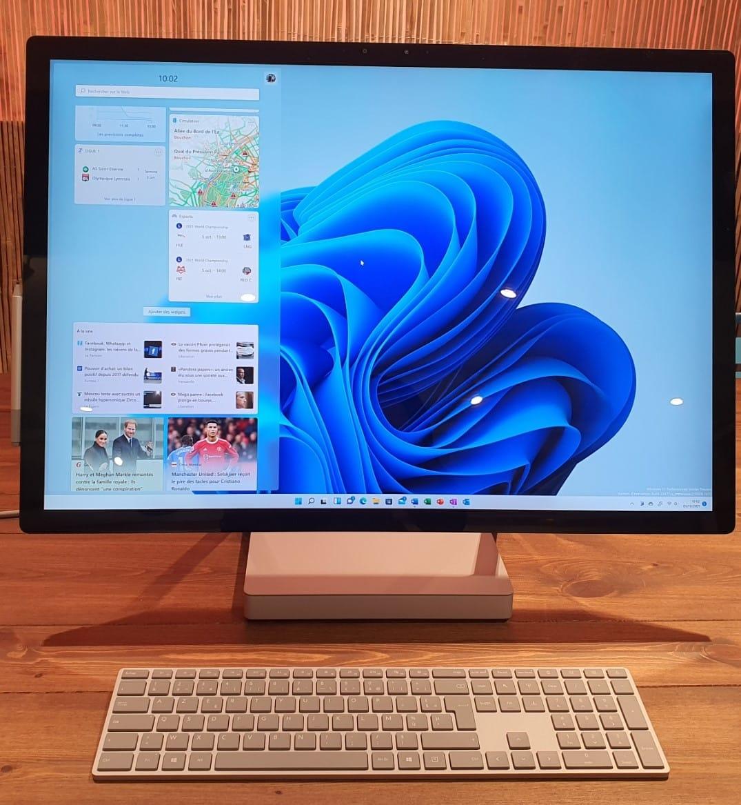 Le volet des widgets dans Windows 11